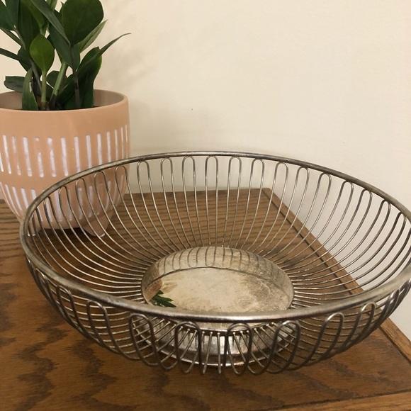 Round Vintage Metal Basket